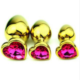 Spina anale di estremità dei grandi del cuore monili di cristallo a forma di dorati dell'acciaio inossidabile