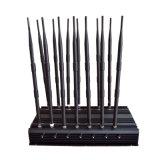 강력한 14 안테나 GPS 3G 4G 전화 차단제 & WiFi UHF VHF & 모든 악대 신호 방해기