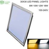 quadrado Lampada da luz de painel do diodo emissor de luz de 8W 300X300