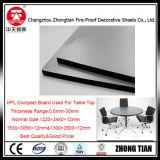 Aseo Cubículo de reparto de pared del tablero laminado compacto HPL