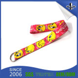 Sublmation Printing Soft Cotton Custom Lanyard com Gancho de Metal