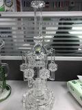 Tubulação de água de vidro do Percolator do rei Handblown Borosilicate Reto Câmara de ar do HB