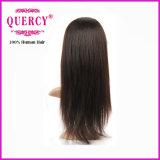 100%년 Virgin 브라질 사람의 모발 Remy 머리 가득 차있는 레이스 정면 똑바른 가발 (HW-029)