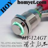 22mm 4p iluminado en acero inoxidable LED del interruptor del empuje del botón con IP65 a prueba de agua
