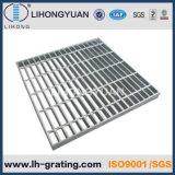 Rejilla de la barra de acero galvanizado con estructura de acero para suelo de la plataforma