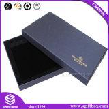 Подгонянная коробка ювелирных изделий бархата Pacakging роскошной Крышки- установленная с логосом сусального золота