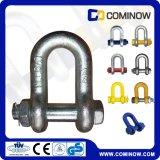 G2150 Us Type Drop Forged Chain Shackle avec perçage de sécurité et noix / type de boulon Dee Shackle