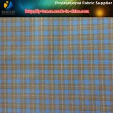 Polyester Gabardine Check Tissu imprimé pour chemises professionnelles