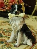 Het ZonneLicht van het Beeldje van het Beeldhouwwerk van de hond voor de Decoratie van de Tuin