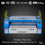 Het Strijken van de Wasserij van Flatwork Ironer van de dubbel-rol (2500mm) Volautomatische Industriële Machine