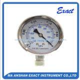 Bourdon Mesurer-Mécanique de pression rempli par liquide Tupe-Tout manomètre de solides solubles