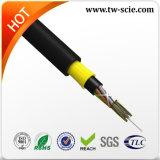 El cable al aire libre óptico al aire libre de fibra con el hilado No-Acorazado trenzado de Kevlar y la central de FRP consolidan