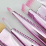 a sobrancelha branca profissional do pó 8PCS cora jogo de escovas da composição do Sponger com saco cor-de-rosa