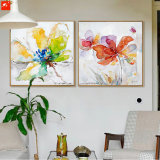 Pittura a olio floreale della tela di canapa della maschera della parete del fiore del manifesto
