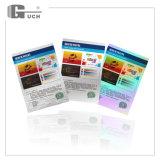 Efecto de colores con grandes líneas de material de la tarjeta de láser PET