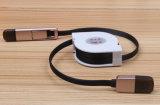 Logo Personalizado 2 en 1 cable de carga USB retráctil
