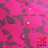 Tela 100% de la pongis del poliester con la impresión reflexiva para las chaquetas y la tela de la ropa