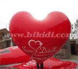 Aerostato gonfiabile rosso dell'elio di figura del cuore per la cerimonia nuziale K7073