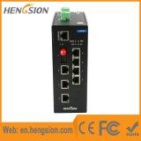 Interruptor industrial manejado de la red de Ethernet de la fibra de 8 accesos del Megabit