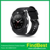 2017 relógio esperto de Bluetooth do cartão esperto Android quente da sustentação SIM de V8 do relógio da venda Mtk6261 Bluetooth 3.0