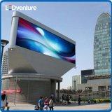Pared video a todo color al aire libre del gigante LED para hacer publicidad