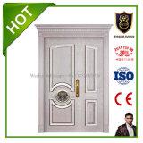 Diseño High-Grade Madera de doble puerta de entrada puertas principales