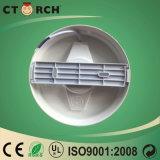 Ctorch 가득 차있는 플라스틱 덮개 표면 둥근 위원회 빛 6W
