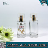 bouteille de parfum en verre cosmétique de jet du cylindre 45ml