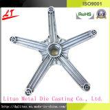 Kundenspezifische Aluminiumlegierung Druckguß der Büro-Stuhl-Unterseiten-/Möbel-Metalteile