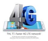De originele octa-Kern Thl T7 Androïde 5.1 Mtk6753 Vingerafdruk van de Telefoon 4800mAh van de Duim HD van ROM van de RAM van Smartphone 3G 16g 5.5 Mobiele het Slimme Zilver van de Telefoon