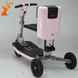 La nueva llegada hizo en vespa eléctrica plegable de la rueda del color de rosa de China tres