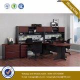 Самомоднейшая таблица l стол управленческого офиса формы стеклянный (HX-FCD079)