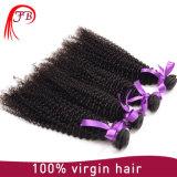 공장 도매 브라질 아프로 비꼬인 머리 씨실 100% 처리되지 않은 Virgin 곱슬머리 연장