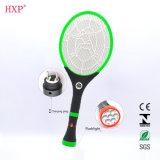 Swatter di vendita caldo ricaricabile della zanzara con la torcia elettrica del LED