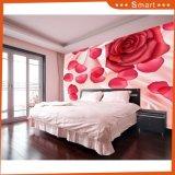 Peinture à l'huile rouge de décor de mur de salle de séjour de Rose