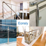 Système de poteaux de courants de verre pour intérieur et extérieur