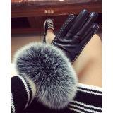 Лучше всего выбрать Sheepskin Mittens дамы зимний мех кожаные перчатки