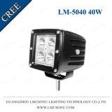 Luz cuadrada del funcionamiento de conducción de 40W LED para la luz auxiliar LED del trabajo campo a través del carro 3 pulgadas