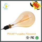 PS150 Basis Edison Style Tungsten Filament Bulb van de Lamp van de bol de Gloeiende E40