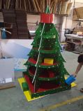 Visualización con los estantes, soporte de Cardbord del árbol de navidad de visualización de suelo de la publicidad al aire libre para los regalos