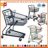 Gute Qualitätssupermarkt-Plastikeinkaufen-Laufkatze (Zht24)