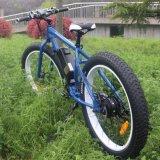 """26 """" 21のギヤが付いている脂肪質のタイヤ山の電気自転車"""