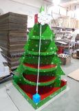 Fabricant d'affichage en carton Chine, Écran de carton d'arbre de Noël, Présentoir Présentoir, Fsdu