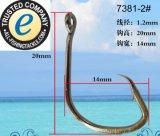 Crochet de pêche 7381 En acier inoxydable