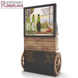 Piso Especial Pop suporte da tela de aromatizantes tempero suporte de ecrã com roda de madeira
