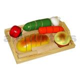Couper les aliments jouet en bois
