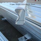ハイウェイのステンレス鋼のガードレールシグマポスト