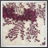 3D網の刺繍のレースのテュルの刺繍のレース3Dの花の刺繍のレース