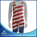 hecho personalizado por sublimación de la compresión de alta calidad Premium traje de lucha libre