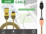 Câble de remplissage en alliage de zinc d'USB, câble en alliage de zinc de charge pour l'iPhone et androïde